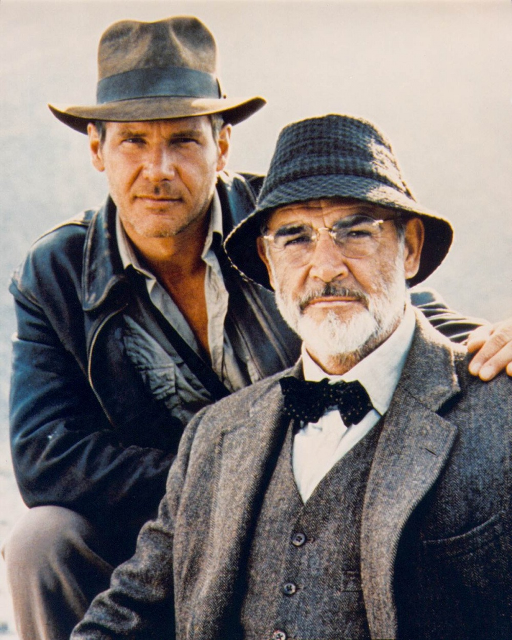 harrison ford y sean connery en indiana jones and the last